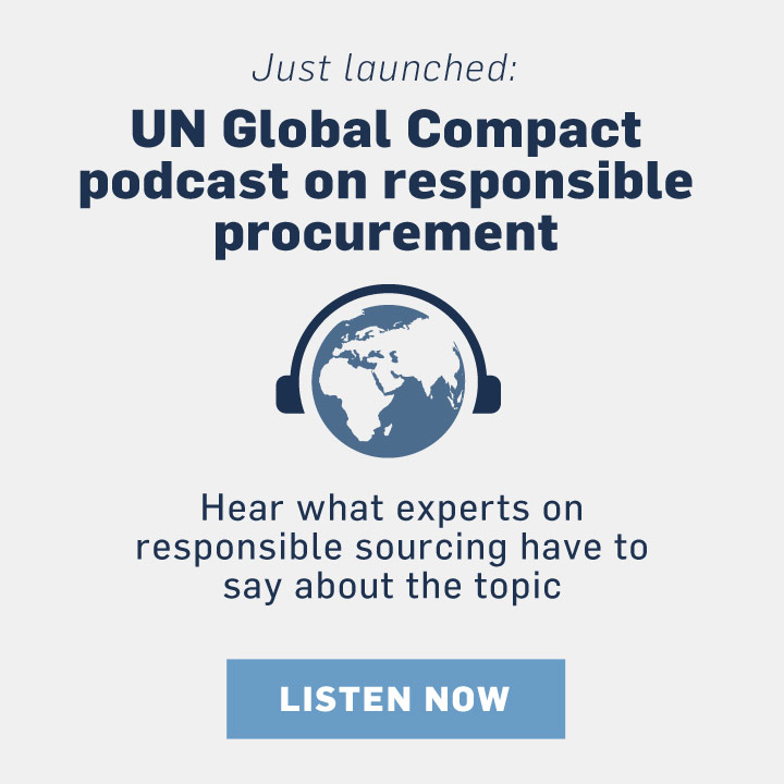 UN Global Compact podcast on responsible procurement